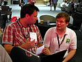 Humanitarian OpenStreetMap mapping workshop session at Wikimania 2014 04.jpg