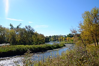 Toronto ravine system - The Humber River Trail is one of several trails in the city that go through the ravine system.