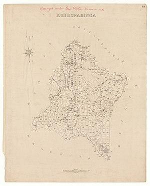 Hundred of Kondoparinga - plan of the Hundred of Kondoparinga in 1872
