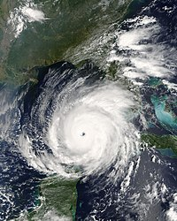 Hurricane Rita in the Gulf of Mexico on September 21, 2005.