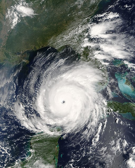 Hurricane Rita, satellite view, 5 September 2005*