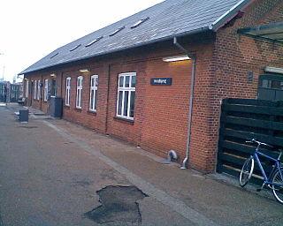 Hvidbjerg station railway station in Struer Municipality, Denmark