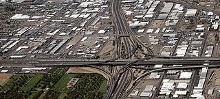 The Stack freeway interchange in Phoenix, Arizona