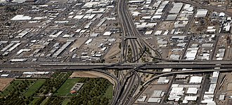 Interstate 17 - Image: I 10 and I 17 stack, PHX