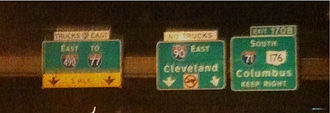 Interstate 77 - I-90 near I-71 to I-77 interchange in Cleveland