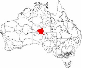 Finke (biogeographic region) - The interim Australian bioregions, with Finke in red