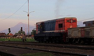 Solo Balapan railway station - Diesel Locomotive BB 200-03 at Solo Balapan Station