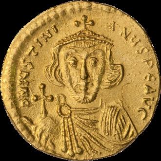 Justinian II - Solidus of Emperor Justinian II
