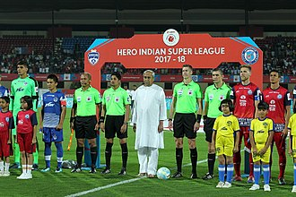 Jamshedpur FC - Jamshedpur and Bengaluru before their match at the Kalinga Stadium