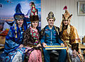 ISS-34 Kevin Ford with women in ceremonial Kazakh dress.jpg