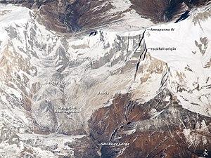Seti Gandaki River - Image: ISS038 E 020918ann