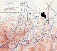 Map of planned advance into Po River valley.