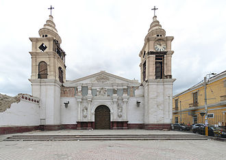 Ica, Peru - Ica Cathedral with damage from earthquake of 2007