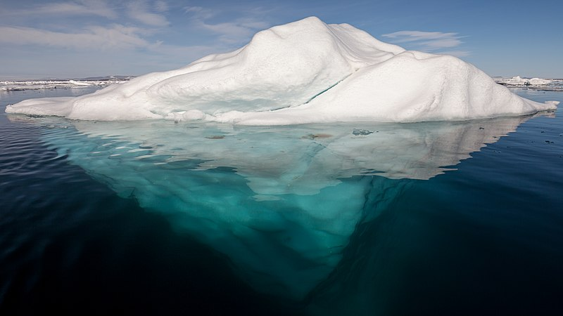 File:Iceberg in the Arctic with its underside exposed.jpg