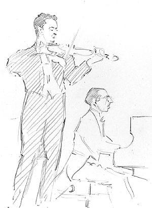 Violin Concerto (Stravinsky) - Samuel Dushkin and Igor Stravinsky, c.1930