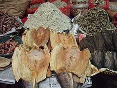 Lauk asin di pasar tradisional
