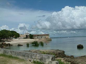 Portuguese India Armadas - Mozambique Island, with Fort São Sebastião in background