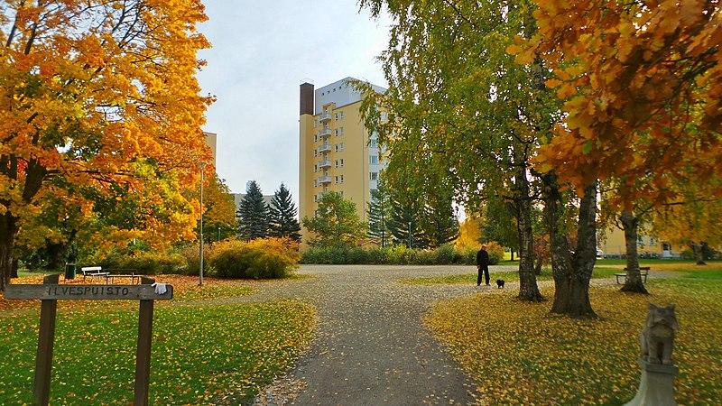 Ilvespuisto park at Liisankallio district in Tampere, Finland