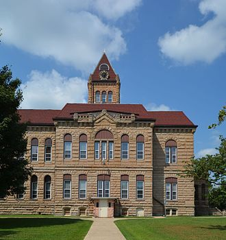 National Register of Historic Places listings in Greene County, Illinois - Image: Image Greene County Courthouse