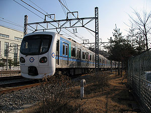 Incheon Subway Line 1 - Image: Incheon Rapid Transit Corporation train 1009