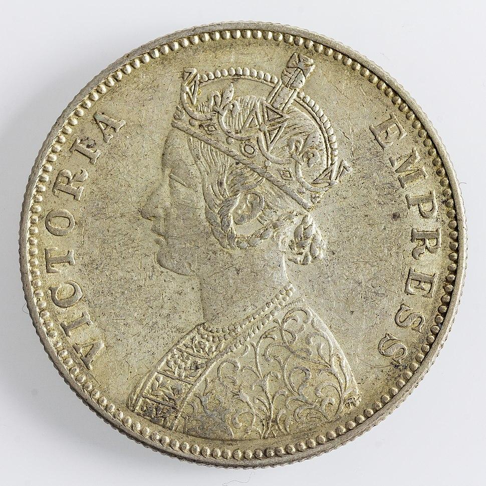 India 1 Rupee 1884 Victoria(obv)-4037