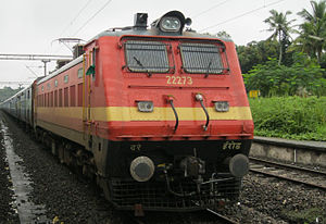 Erode Junction railway station - WAP-4 loco belonging to Electric Loco Shed, Erode