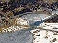 Innbrücke bei Silvaplana zwischen Silvaplaner See und Champfèrersee bei Tauwetter (2).jpg