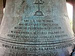 Inscription of the Largest Bell in the Philippines and Asia.JPG