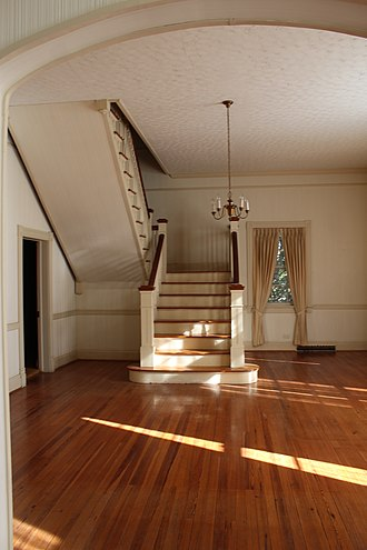 New London, Virginia - Main staircase of the Bedford Alum Springs Hotel