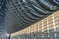 Interior of the Tokyo International Forum glass building with roller shades in Japan.jpg