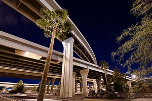 Interstate 10 and Interstate 17 Interchange at Night.2012