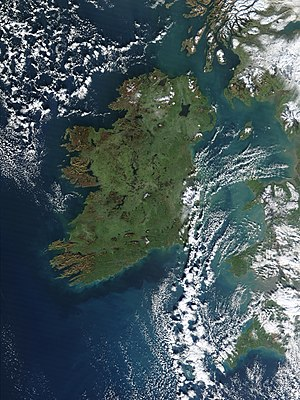 "Ireland is sometimes known as the ""Emerald Isle"" because of its green scenery."