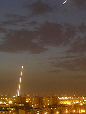 Operation Pillar of Defense - Iron Dome launches during operation Pillar of Defense