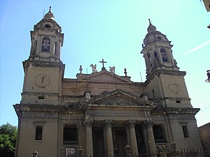 Ventura Rodríguez - Facade of  Cathedral of Pamplona.