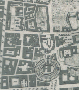 Ittar Plan of Catania 1833, amphitheatre area.png