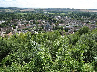 Ivry-la-Bataille - The village seen from the chateau