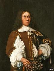 Portret van een man van de familie Veen (geb. 1635/36)