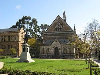 Elder Conservatorium of Music - Elder Conservatorium and statue of Sir Thomas Elder.