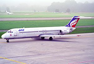 Sosoliso Airlines Flight 1145 - The aircraft involved in the accident taken on 1997 while still in operation with JAT Airways