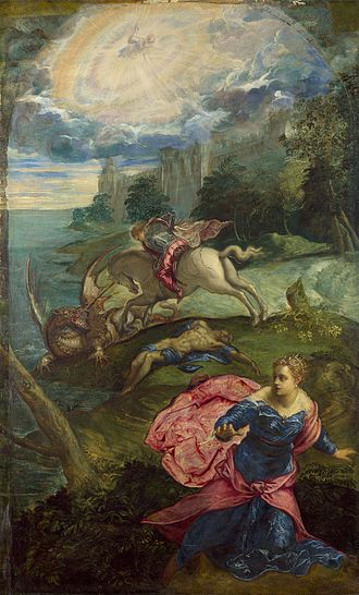Saint George and the Dragon (Tintoretto) - Image: Jacopo Tintoretto Saint George and the Dragon Google Art Project