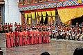 Jakar tshechu, Dzongkhag dancers (15660077367).jpg