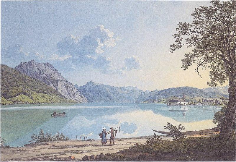 File:Jakob Alt - Der Traunsee - 1817.jpeg