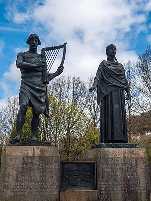 Ynysangharad Park - Evan and James James memorial