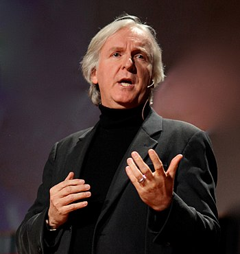 James Cameron speaking at 2010 TED Conference.