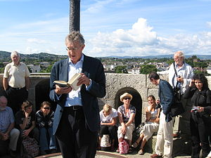 Bloomsday - Reading from Ulysses on top of James Joyce Tower and Museum, 16 June 2009