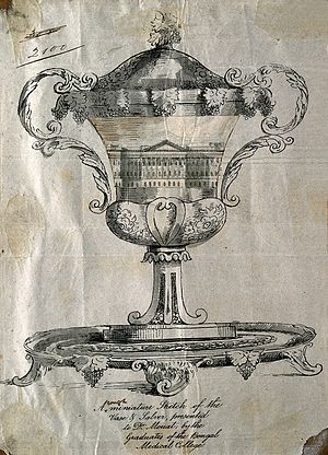 Frederic J. Mouat - Image: James Mouat's presentation cup. Lithograph with wash design Wellcome V0004150