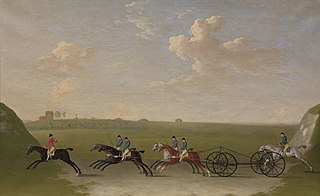 The Chaise Match Run on Newmarket Heath on Wednesday the 29th of August, 1750
