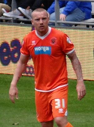 Jamie O'Hara (footballer) - O'Hara playing for Blackpool in 2015