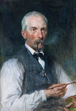 Jan Hendrik Weissenbruch - Jan Hendrik Weissenbruch, by Jozef Israëls (1882)