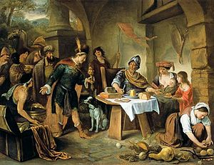 Marcus Curius Dentatus refuses the gifts of the Samnites - Image: Jan Steen Manius Curius Dentatus and the Samnite Ambassadors